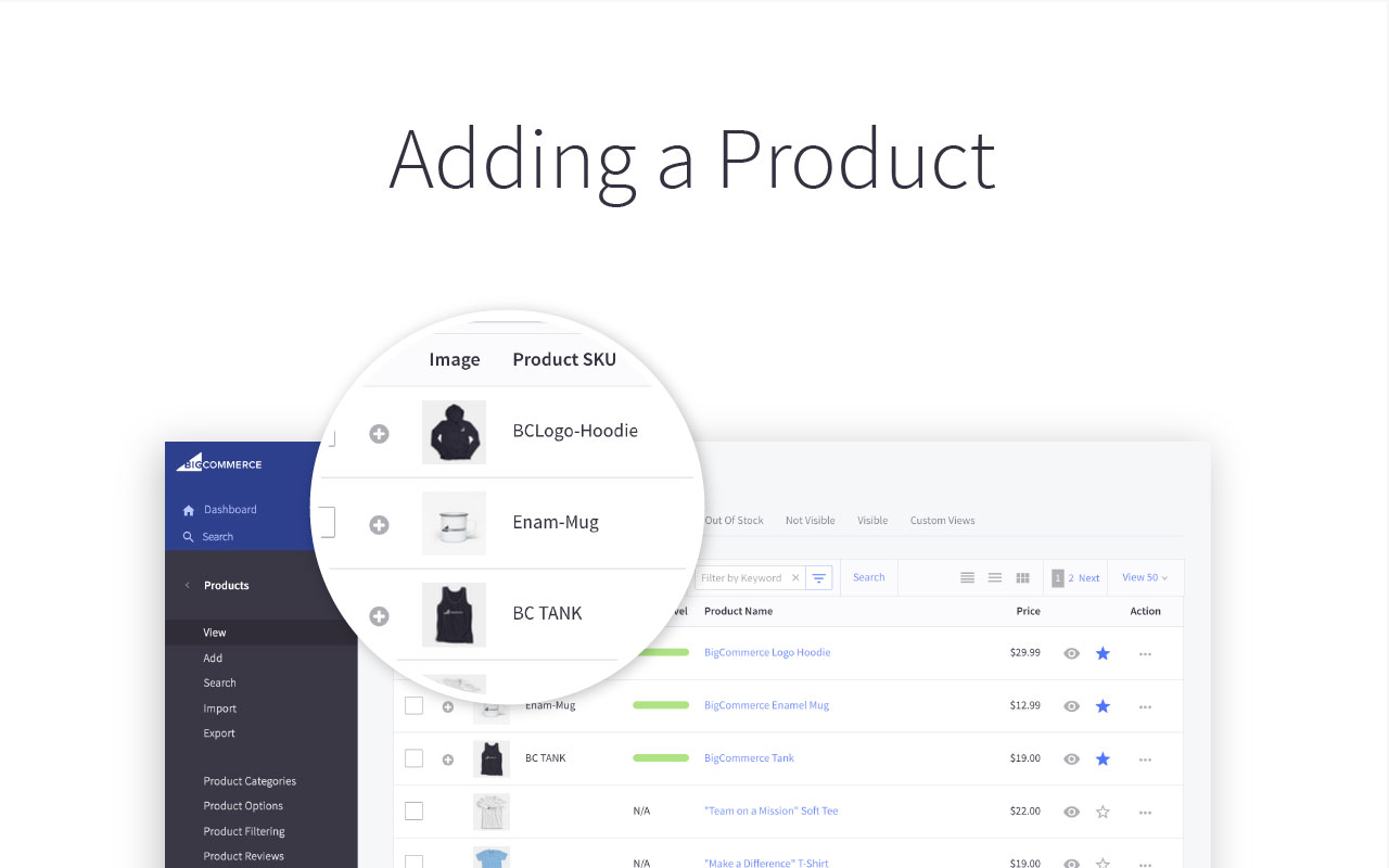 Adding a Product