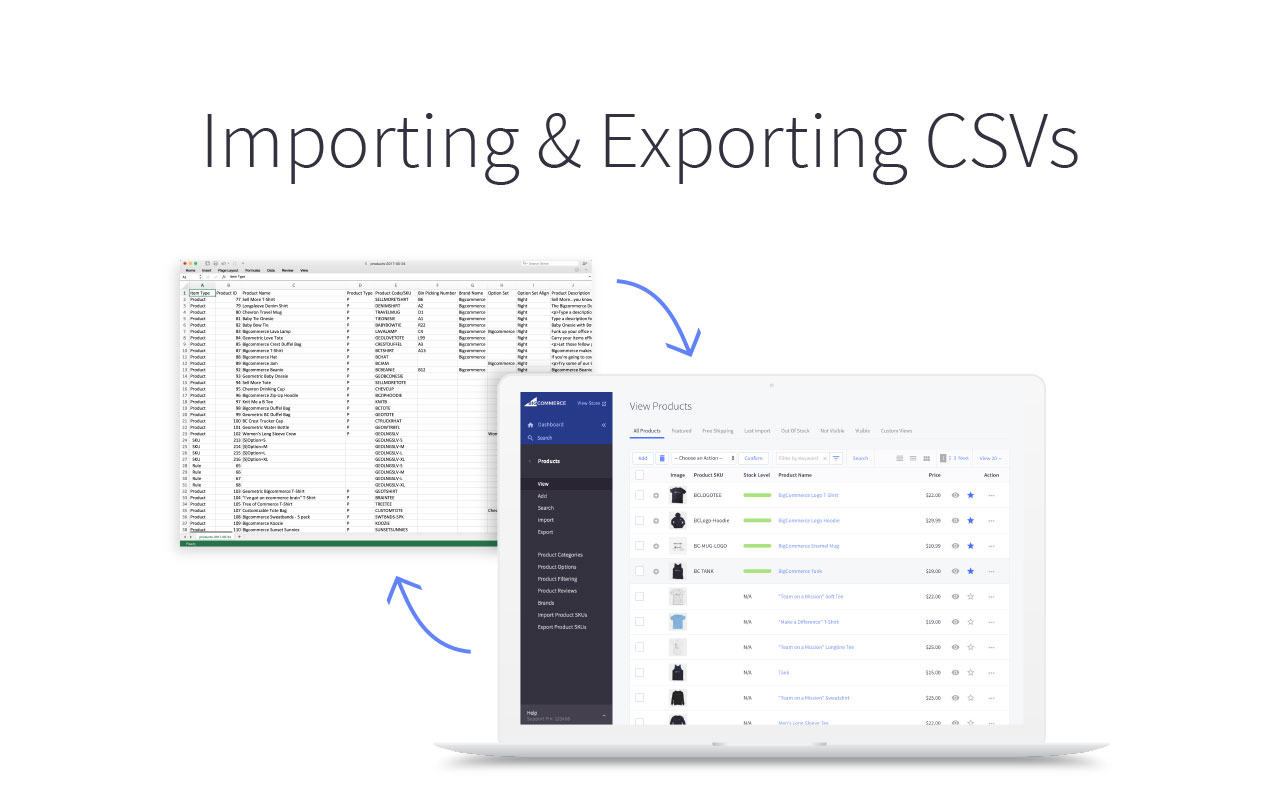 Importing & Exporting CSVs